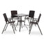MCombo Wicker Patio Dining Set, 5 Pieces Outdoor Patio Furniture Set Table and Wicker Folding Chairs for Garden, Backyard, Bistro and Deck 6084-DS86-BK