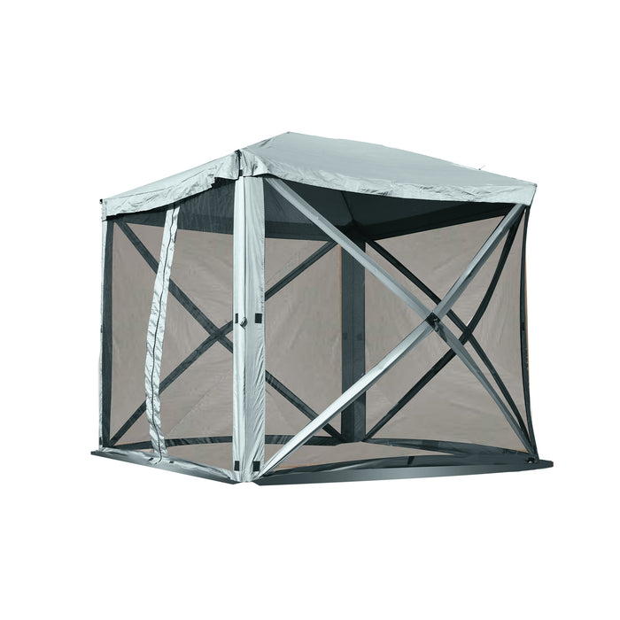 Mcombo Gazebo Tent Pop-Up Portable 4-Sided Hub Durable Screen Tent (4-6 Person) 6052-1024W-4PC