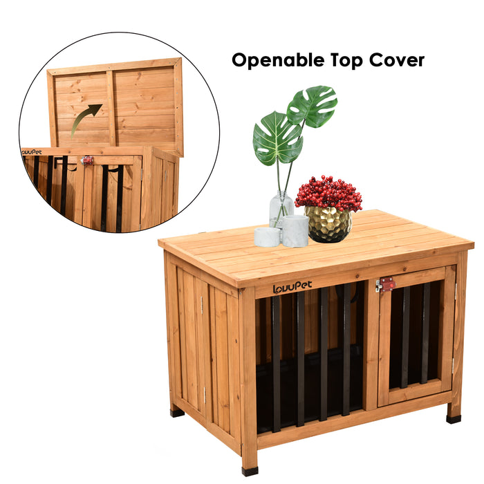 Lovupet Wooden Portable Foldable Pet Crate Indoor Outdoor Dog Kennel Pet Cage with Tray 0652&0651&0650