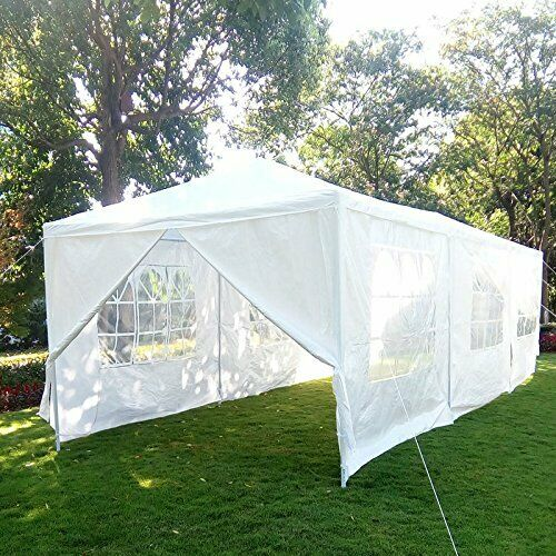 MCombo 10'x30' Outdoor Canopy Tent Waterproof Gazebo Pavilion 8 Removable Walls 6053