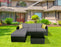 mcombo 5 PC Outdoor Patio Furniture Wicker Chair Sofa Sectional With Cushion Seat 6082