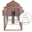 Lovupet 12ft Large Backyard Hen House Chicken Coop w/Long Run, Base Panel 0314