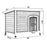Lovupet Wooden Dog House Outdoor Indoor Pet Shelter Pet House Home Extreme Weather-Resistant Log Cabin with Adjustable Feet 0657