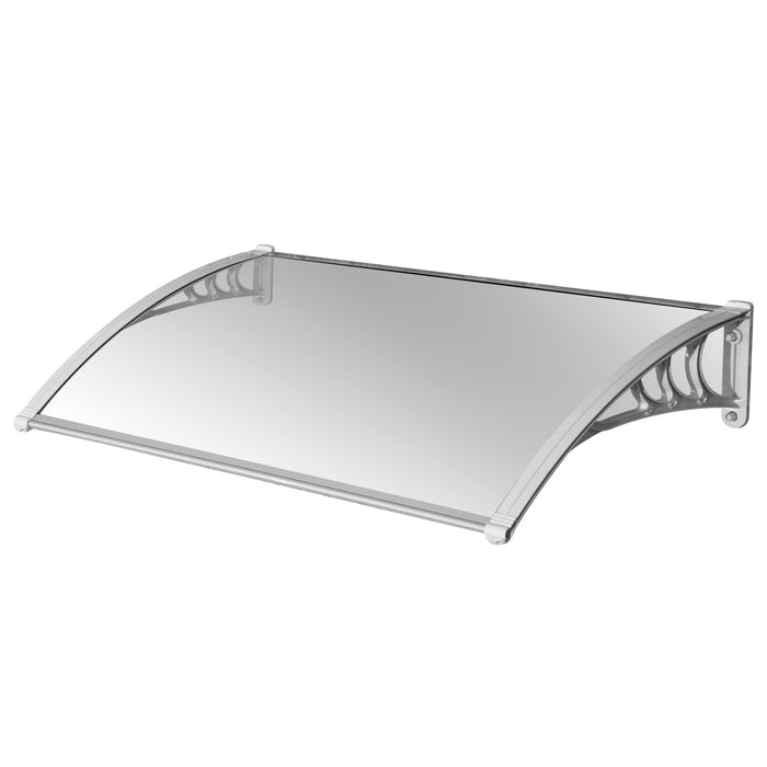 "MCombo 40""×30"" Door Window Awning Patio Polycarbonate Cover Awning Rain Sun Shetter 100% Raw Material Solid Sheet"