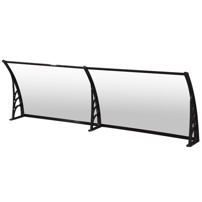 "MCombo 80""x 30"" Door Window Awning Patio Polycarbonate Cover Awning Rain Sun Shetter 100% Raw Material Solid Sheet"