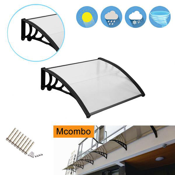 "USED of MCombo 40""×40"", 40""×80"",  40""×120"" Window Awning Outdoor Polycarbonate Front Door Patio Cover Garden Canopy 6055-4040/4080/4012"