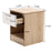 Mcombo Nightstand 1 Drawer Nightstand End Table Side Table Bedroom Furniture 9800W