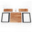 Modern Industrial Oversize Dining Table Desk Table Council Board Rustic and Modern Style Thicker Table top Rustproof Metal Frame for for Living Room Office  6090-SEAS-DT