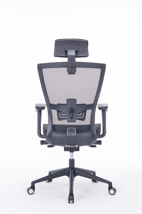 Mcombo Ergonomic Mesh Office Chair High Back Computer Chair PU Leather  Executive Task Desk Seat