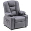 Mcombo Big Kids Recliner Chair with Cup Holders for Toddler Boys and Girls, 2 Side Pockets, 3+ Age Group, Faux Leather 7322