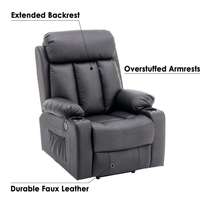 Wondrous Mcombo Oversized Electric Power Lift Recliner Chair Sofa For Elderly Big And Tall People 3 Positions 2 Side Pockets And Cup Holders Usb Ports Faux Inzonedesignstudio Interior Chair Design Inzonedesignstudiocom