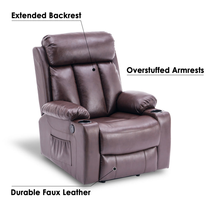 Remarkable Mcombo Oversized Electric Power Lift Recliner Chair Sofa For Elderly Big And Tall People 3 Positions 2 Side Pockets And Cup Holders Usb Ports Faux Machost Co Dining Chair Design Ideas Machostcouk