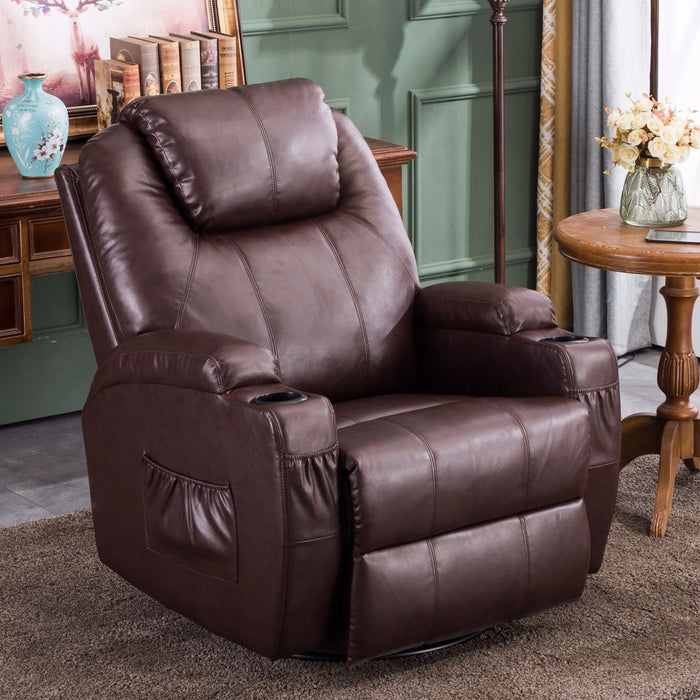 Peachy Mcombo Massage Sofa Recliner Chair Pu Leather 360 Degree Swivel Lounge Chair Vibrating Heated W Remote 6160 8031 Spiritservingveterans Wood Chair Design Ideas Spiritservingveteransorg