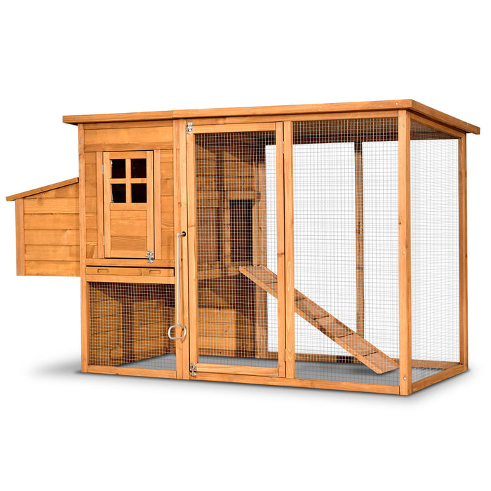 Lovupet 72'' Deluxe Wooden Chicken Coop Backyard Nest Box Pet Cage Rabbit Hen Hutch 1709
