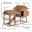 Lovupet Chicken Coop Rabbit Poultry Hen House Pet Cage Backyard Supply Retractable Wheel 0309L