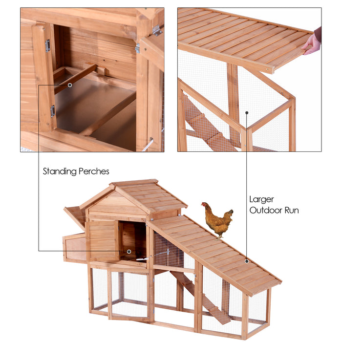 Lovupet Wooden Chicken Poultry Coop Hen house Rabbit Hutch Cage with Run 0315