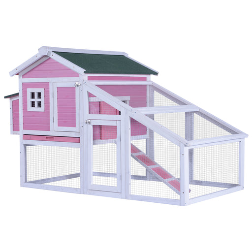 Lovupet  70'' Wood Chicken Coop Hen House Rabbit Hutch Big Backyard Pet Cage 0326 / 0327