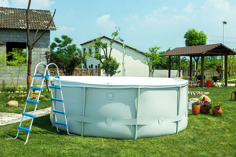 "12' x 52""/16' x 52""/18' x 52"" Above Ground Family Swimming Pool Steel Frame Fast Set Pool w/Filter Pump Ladder"