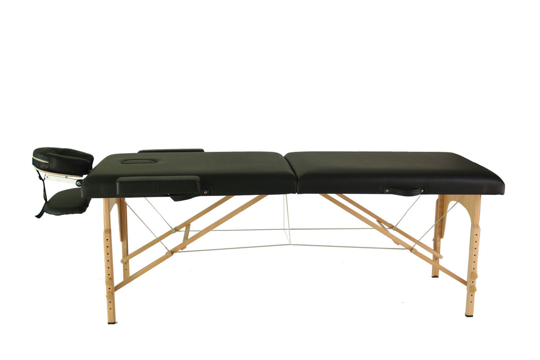 Mcombo Portable 2 Fold 2'' Massage Table Facial SPA Bed Tattoo w/Free Carry Case 6150-S022BK