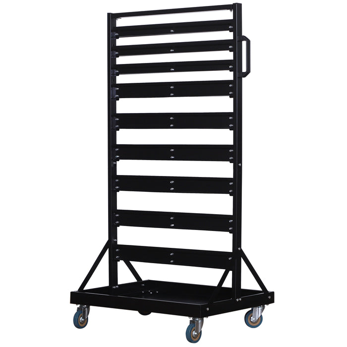 Mcombo 90 Piece Storage Rack with Locking Wheels Garage Storage Hook Organizer Set Tool