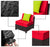 mcombo 9PC Deluxe Outdoor Garden Patio Rattan Wicker Furniture Sectional Sofa Cushioned Seats 6080 Aluminum frame