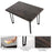 Kitchen Mid-Century Retro Black Collection Rectangle 6-Person Dining Table for Dining Room  6090-COMPAS-BRONZE