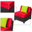 mcombo Replacment Cushion Covers For ExacMe 7 pcs Wicker Sectional Sofa set 6080-C07