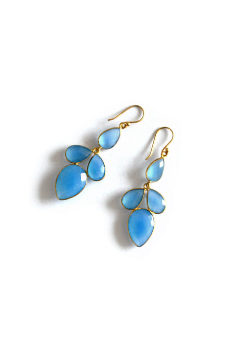 Glam drops Blue Chalcedony