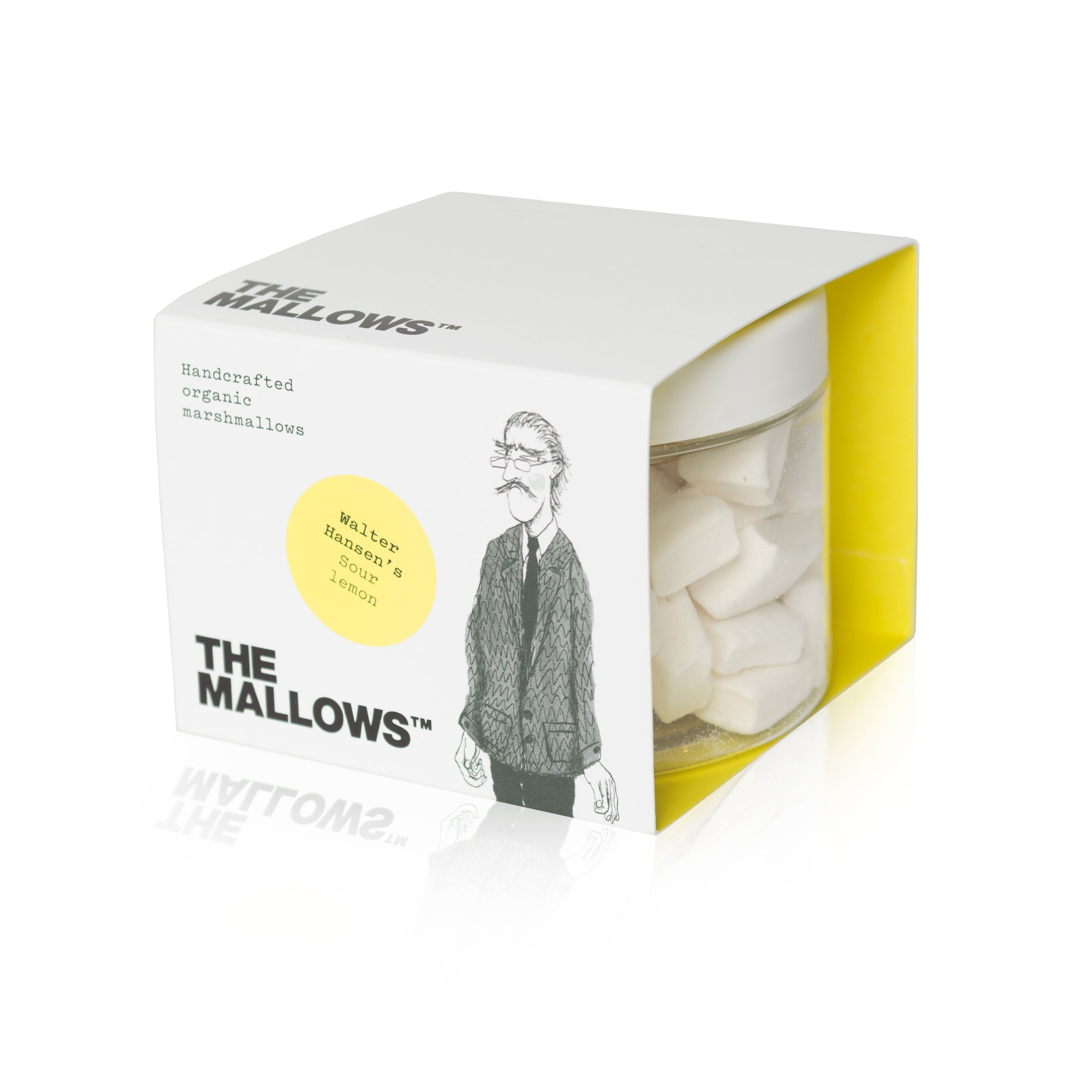 Skumfiduser. Skumfiduser lemon. Walter Hansen's Sour Lemon marshmallows