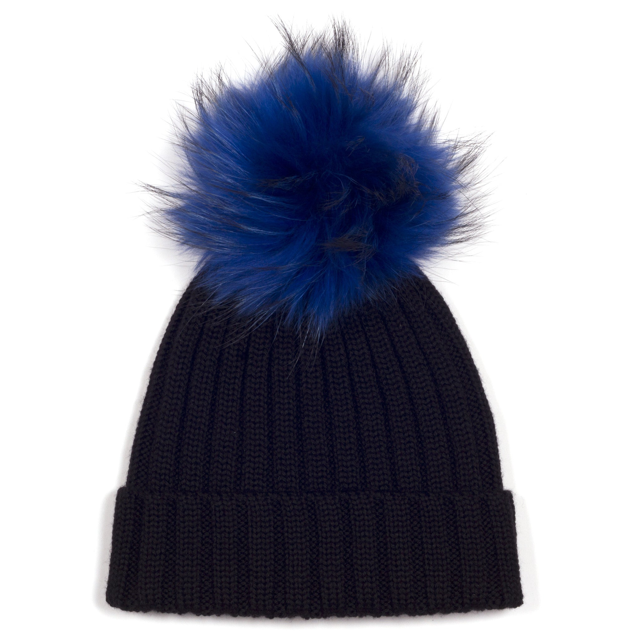 ... Black Single Bobble Hat  17cc5e5ccf9