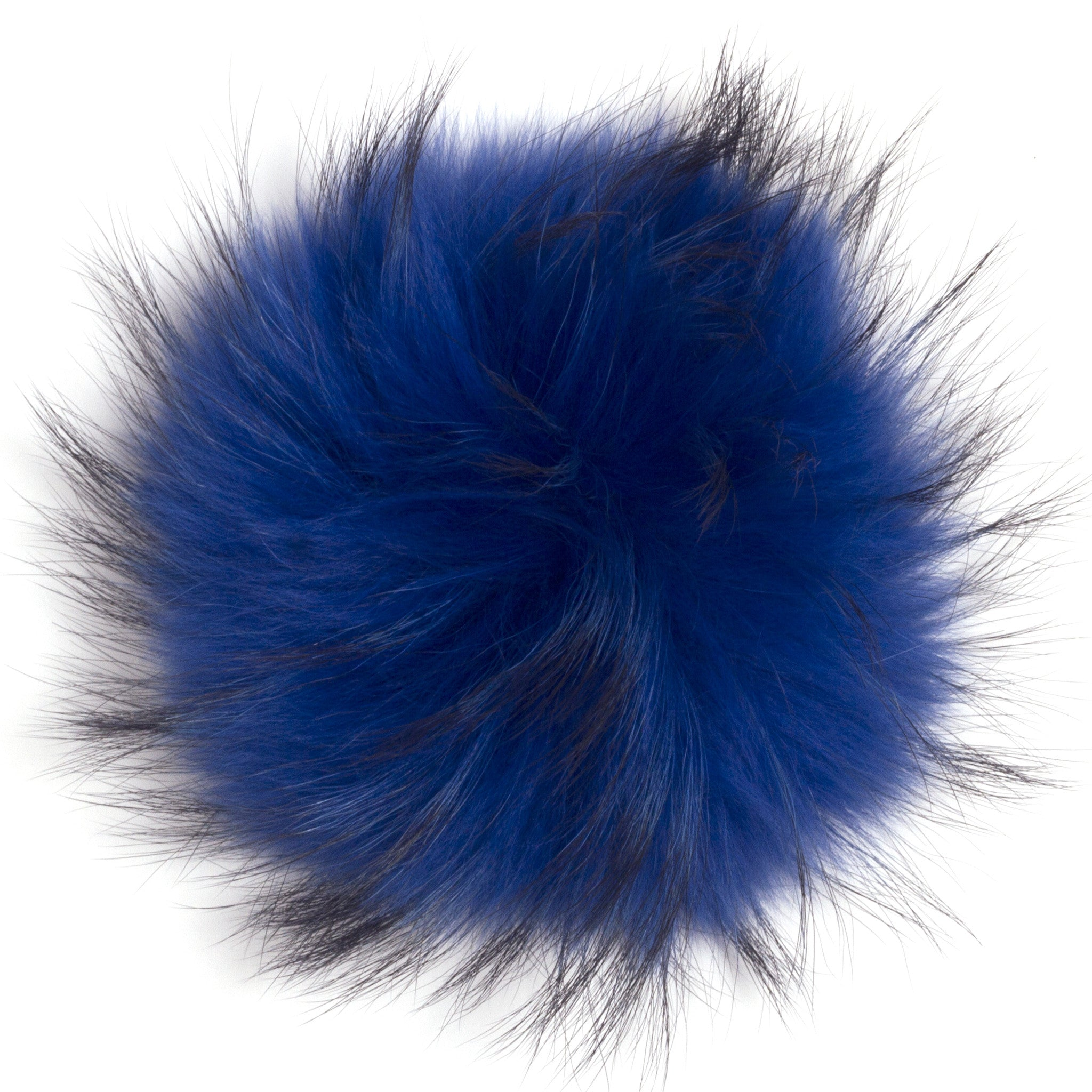 Royal Blue Big Fur Pom-Pom  f9ff21263f6