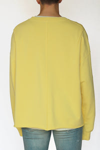 oversized raw-edge sweatshirt - optimist yellow - Commun des Mortels
