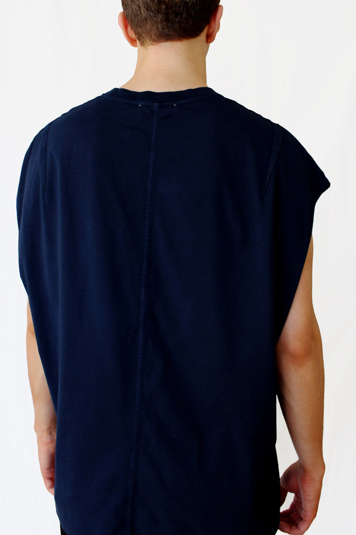 muscle t-shirt - navy blue - Commun des Mortels