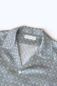 silk camp collar shirt - fjord blue - Commun des Mortels