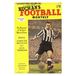 1951-11 Jackie Milburn, Newcastle, Nov 51 Front Cover Metal Sign