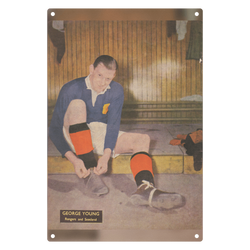 1952-01 George Young, Rangers, Jan 52 Metal Sign