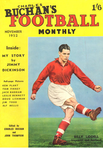 1952-11 Billy Liddell, Liverpool, Nov 52 Front Cover Poster