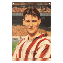 1954-06 Billy Elliott, Sunderland, Jun 54 Metal Sign