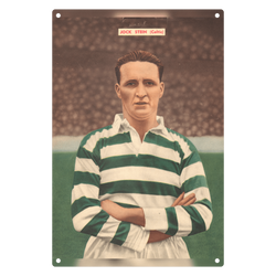 1954-11 Jock Stein, Celtic, Nov 54 Metal Sign