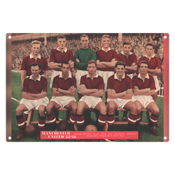 1956-02 Man Utd Team 1955-56 Metal Sign