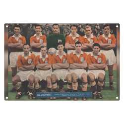 1956-04 Blackpool Team 1955-56 Metal Sign