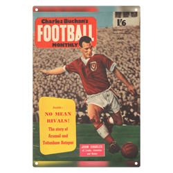 1957-06 John Charles, Juventus, Jun 57 Front Cover Metal Sign