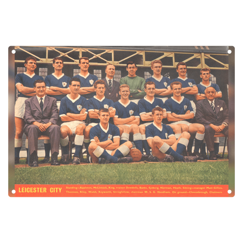 1963-01 Leicester City Team 1962-63 Metal Sign