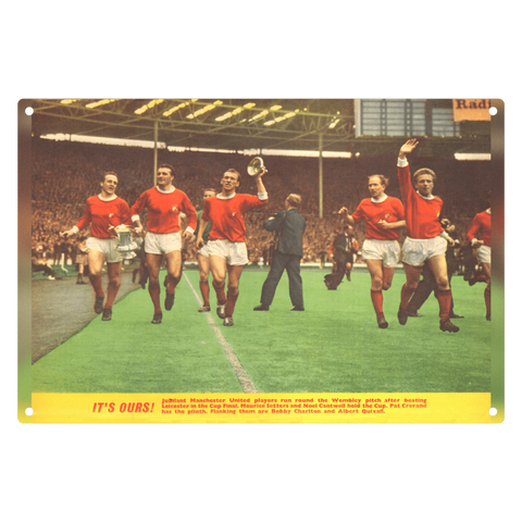 1963-08 Man Utd 1963 FA Cup Winners Metal Sign