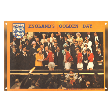 1966-10 England 1966 Queen Presents World Cup Metal Sign