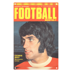 1970-04 George Best, Man Utd, Apr 70 Front Cover Metal Sign