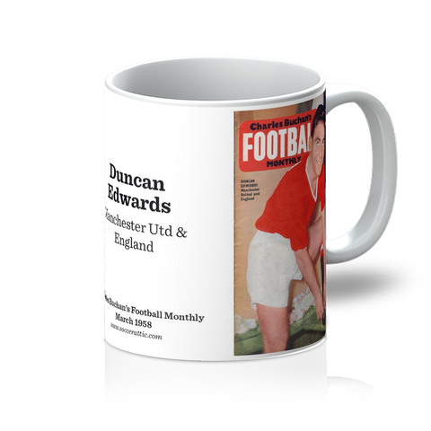 1958-03 Duncan Edwards, Man Utd, Mar 58 Front Cover Mug