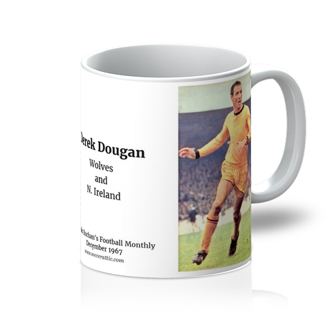 1967-12 Derek Dougan, Wolves, Dec 1967 Picture Mug
