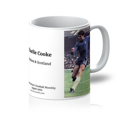 1969-08 Charlie Cooke, Chelsea & Scotland, Aug 69 Mug