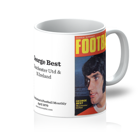 1970-04 George Best, Man Utd, Apr 70 Front Cover Mug